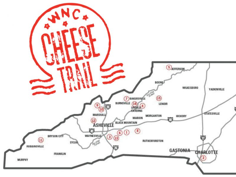 Set your route among the 15 stops on the WNC Cheese Trail; just be sure to check each creamery's website for touring and tasting hours.
