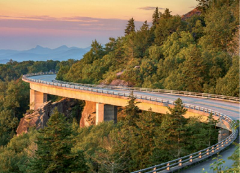 """Guys' Trip: """"My friends and I went up to Greenville and rode our bikes for 200 miles on the Blue Ridge Parkway."""""""