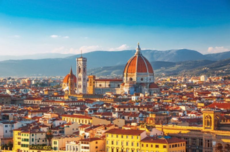 """That's Amore: """"I love just about any place in Italy. Most recently, I was in Florence, and I also took a mosaic class in Ravenna."""""""
