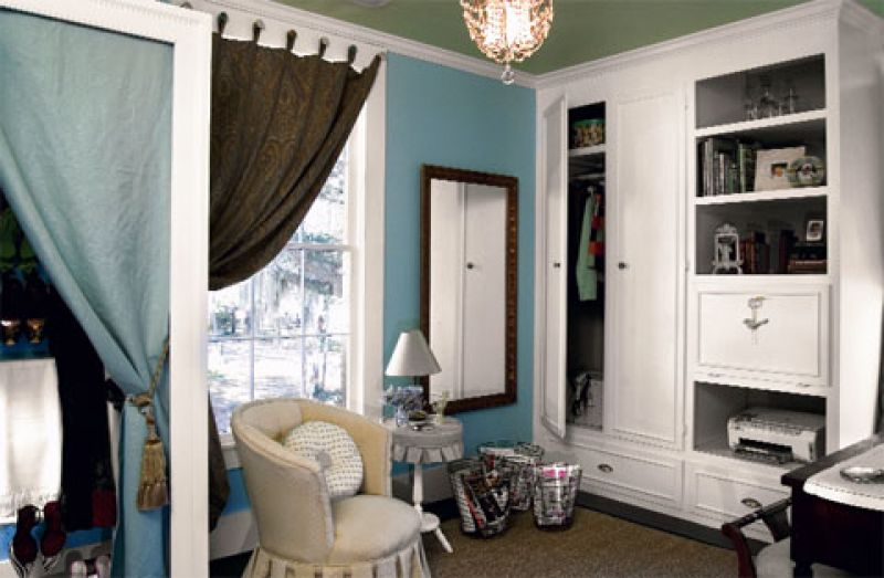 Small Spaces Cluttered Bonus Room To Glam Dressing Room