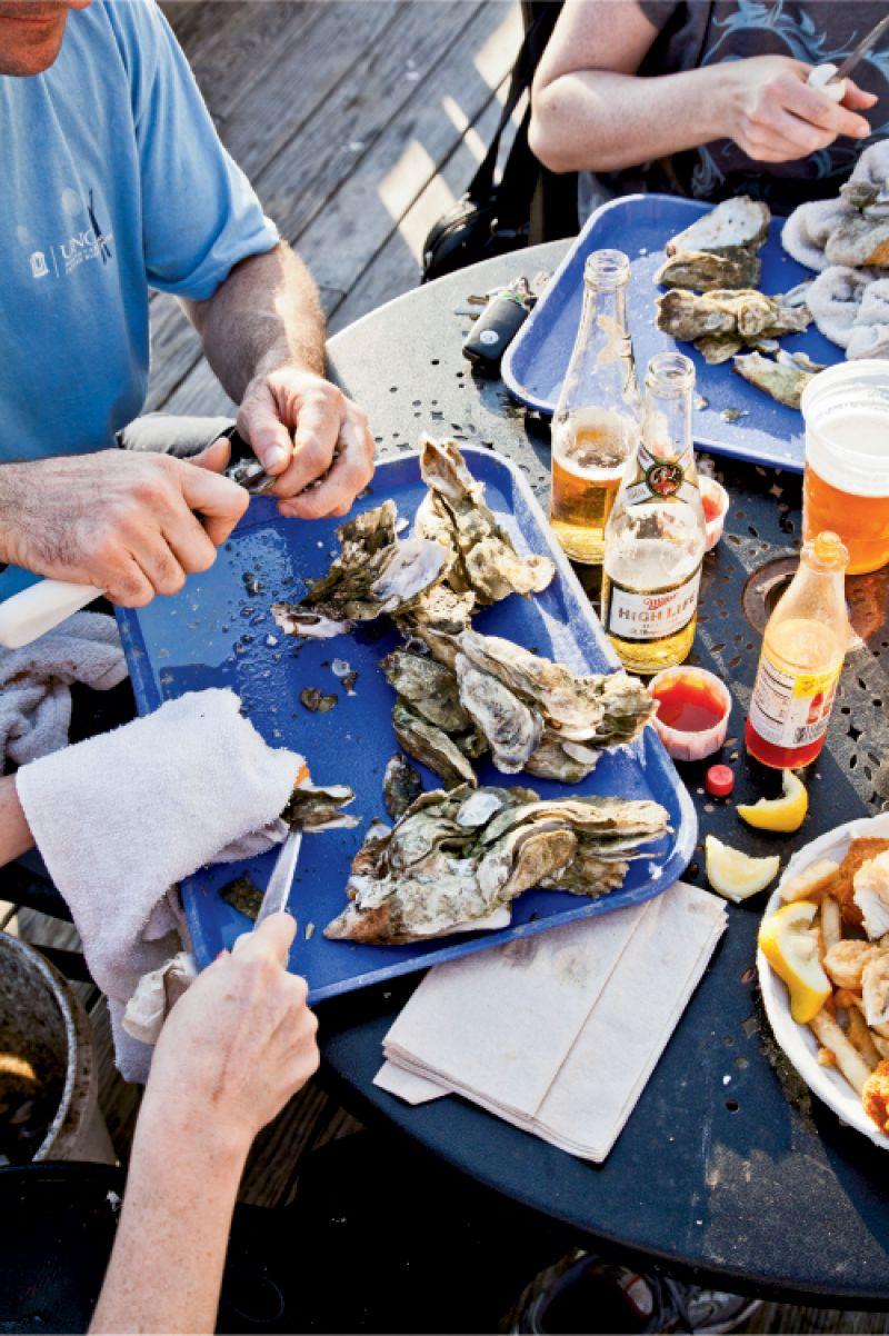oysters steamed bowens island restaurant charleston sc