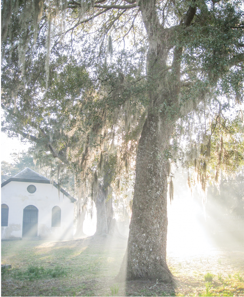 The circa-1725 Strawberry Chapel-of-Ease in Berkeley County