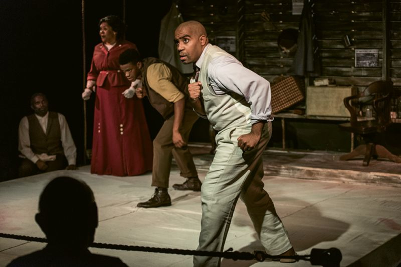 PURE Theatre actor Michael Smallwood in Marco Ramirez's The Royale last fall