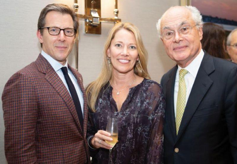 Board chair Bill Medich and Michele Seekings.