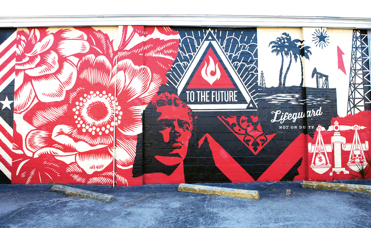 Power & Glory  by Shepard Fairey  May 2014 - Across the driveway from The Daily and High Wire Distilling Co. (656 King St.)