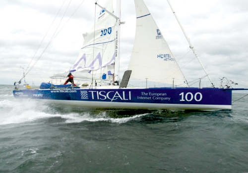 The late Simone Bianchetti sailed Le Pengouin in the 2002-03 race under the sponsor name Tiscali. Photographs by Billy Black.