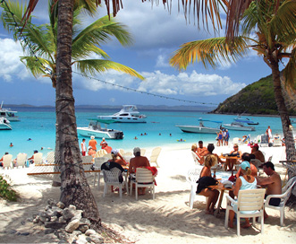 "Soggy Dollar Bar - ""It's in the Caribbean, and you have to jump in the water to get to the bar. Order a Painkiller!"""