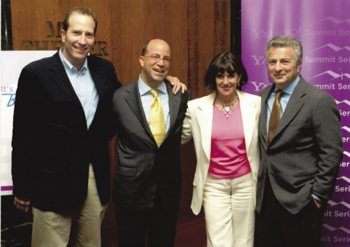 With Whalerock Industries CEO Lloyd Braun, CNN Worldwide CEO Jeff Zucker, and former General Motors vice president of corporate marketing and advertising Phil Guarascio at the Yahoo Summit Series in 2006