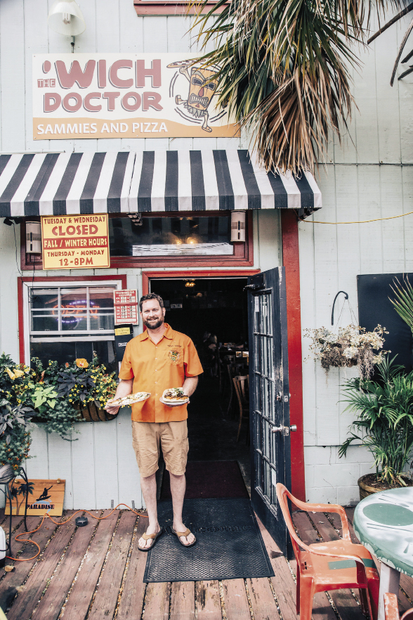 """After 30-plus years in F&B, Jeff Butler (above) and his wife, Krista Hines, opened this """"small space that's huge on taste"""" in March 2011."""