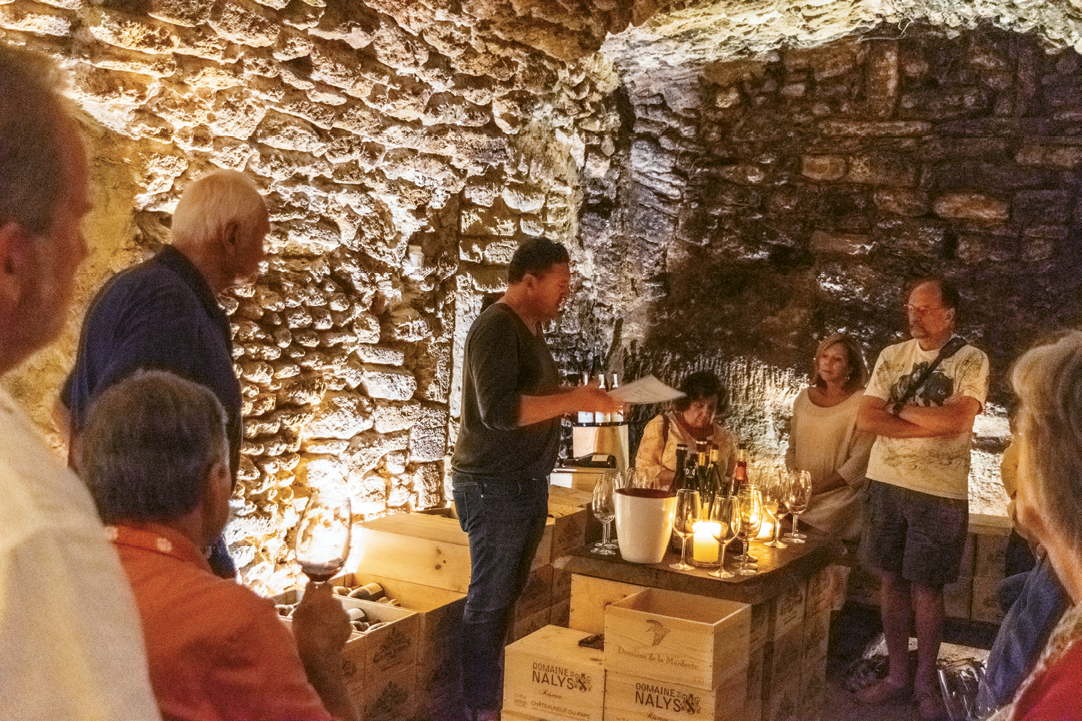 Wine tasting in Cave St. Charles, Châteauneuf-du-Pape